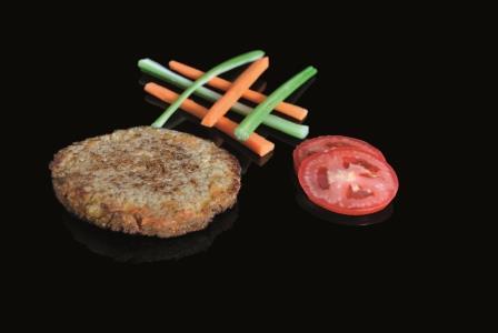 Hamburguesa vegana de sesamo