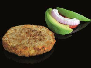 Hamburguesa vegana de boletus y trufa