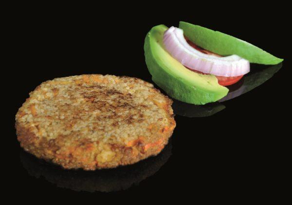 Hamburger vegetalien aux bolets et a la truffe