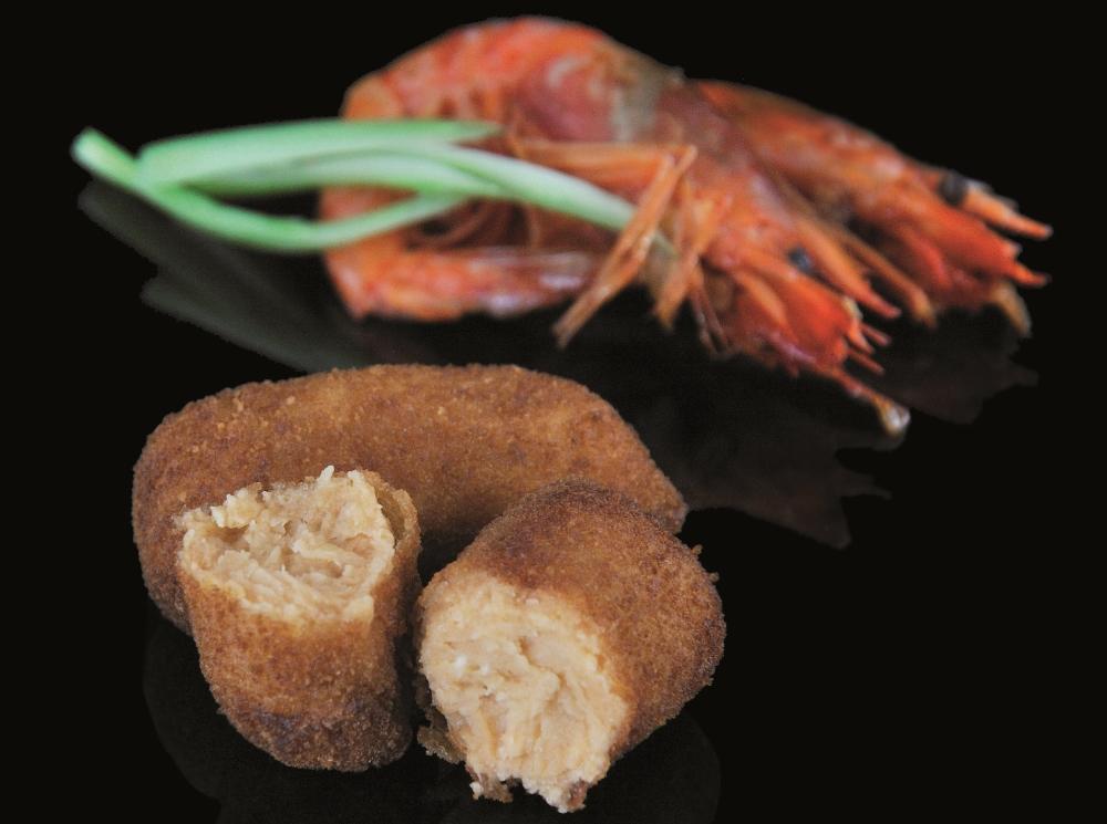 Croquetas de crevette rouge