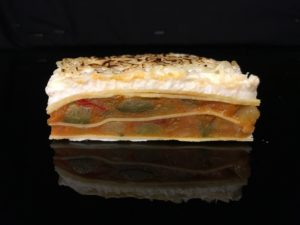 Lasana de verduras con bechamel y queso