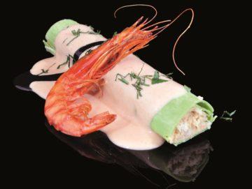 Canelon XL de pescado y marisco