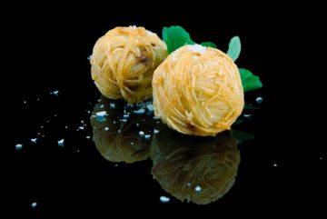 Madeja de patata y foie