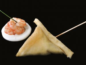 Shrimp and cheese umbrella