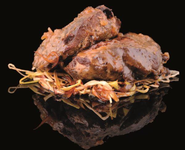 Carrillera de cerdo ibérico con salsa barbacoa
