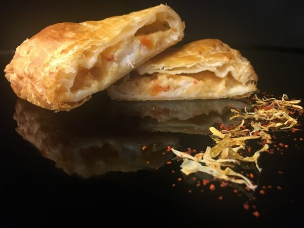 Fish and seafood puff pastry
