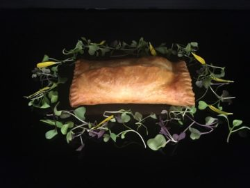Foie gras and apple puff pastry