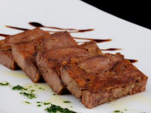 Deboned Iberian pork cheek confit Slab